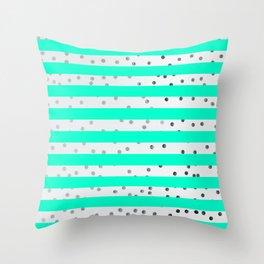 modern stylish blue line pattern Throw Pillow