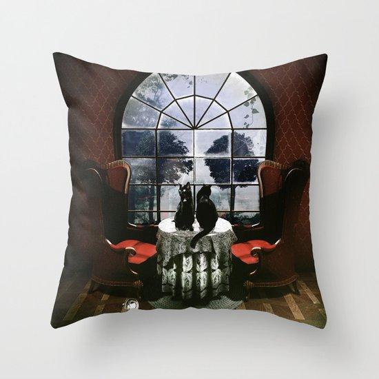 Room Skull Throw Pillow