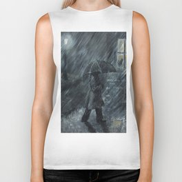 Trudging in the Rain Biker Tank