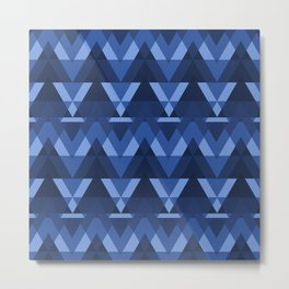 Geometric - Blue Metal Print