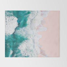 Pink Sand Beach Throw Blanket