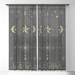 L'Etoile or The Star Tarot Gold Sheer Curtain