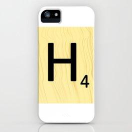 Scrabble H Decor, Scrabble Art, Large Scrabble Prints, Word Art, Accessories, Apparel, Home Decor iPhone Case
