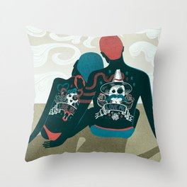 Love You / Love Me - Us and Them Throw Pillow