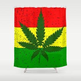 Rastafarian Flag Shower Curtain