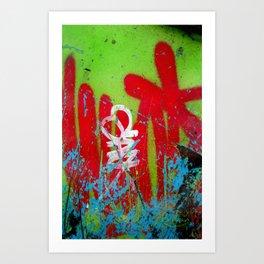 Jardin De Graffiti Art Print