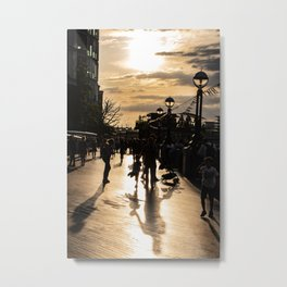 Sunset on the Thames River Shore Metal Print