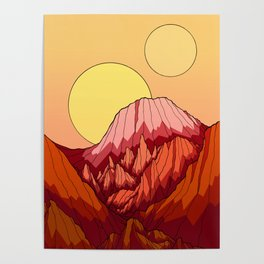 The Mountains of the red planet Poster