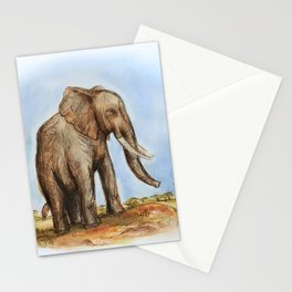 The Majestic African Elephant Stationery Cards