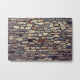 Brick Wall Pattern Metal Print