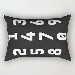 Typography Numbers #3 Rectangular Pillow