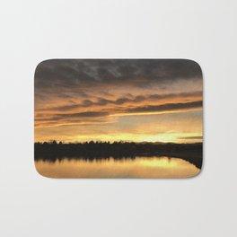 Lake Arbor Sunset Bath Mat