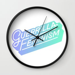 GF purple logo Wall Clock