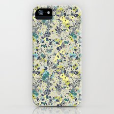 painted floral Slim Case iPhone (5, 5s)