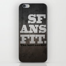 Black SFANSFIT the best answer iPhone & iPod Skin
