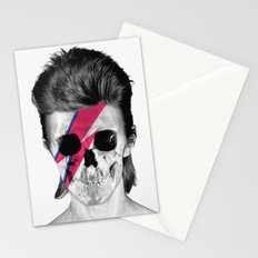 Skull Bowie Stationery Cards