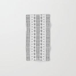 Mud Cloth White and Black Vertical Pattern Hand & Bath Towel