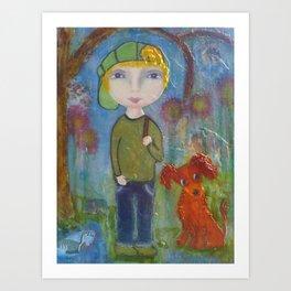 Anton & Gumbo - Whimsies of Light Children Series Art Print