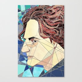 Adrien Stained Glass Canvas Print
