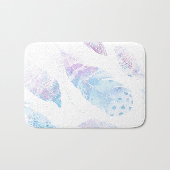Faded galaxy feathers Bath Mat