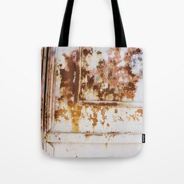 Rust and white paint Tote Bag