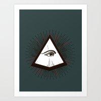 illuminati Art Prints featuring Illuminati by Heiko Hoos