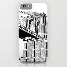 Brooklyn Bridge Black and White iPhone 6s Slim Case
