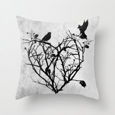 under construction (black and white) Throw Pillow