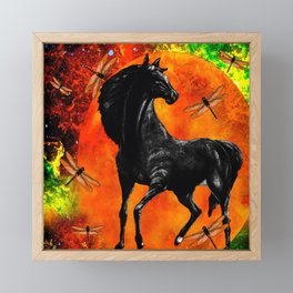 HORSE MOON AND DRAGONFLY VISIONS Framed Mini Art Print