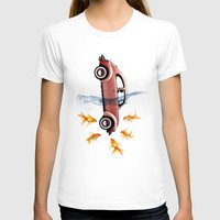 vw T-shirts featuring VW beetle and goldfish by Vin Zzep