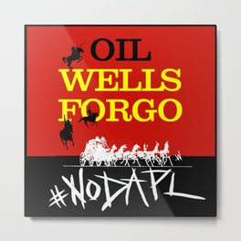 Oil Wells Forgo: NODAPL Metal Print