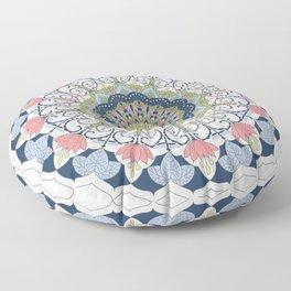 Blue Mandala Floor Pillow