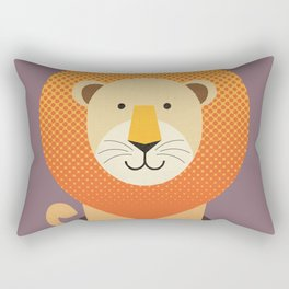 Whimsy Lion Rectangular Pillow