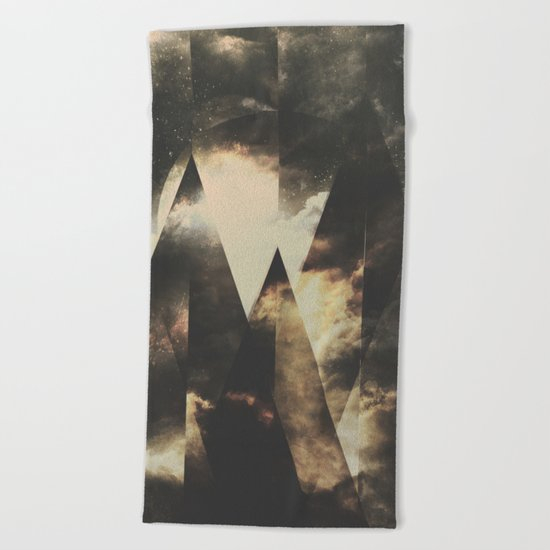 The mountains are awake Beach Towel