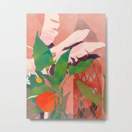 maroque tropical leaves Metal Print