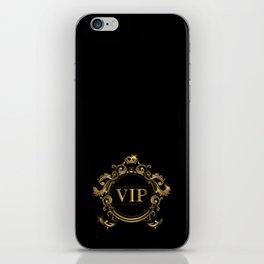 VIP In Black and Goldtone iPhone Skin