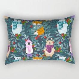 Funny animals. Merry Christmas! Rectangular Pillow