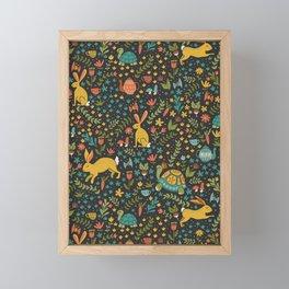 Tortoise and the Hare Framed Mini Art Print