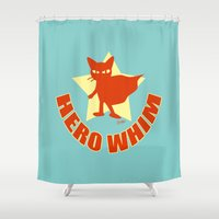 hero Shower Curtains featuring HERO WHIM by BATKEI (Keiko W)