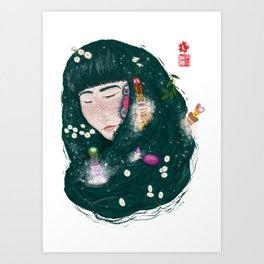 Hair Perfume Art Print