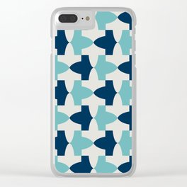 Alhambra Motif Blue Palette Clear iPhone Case