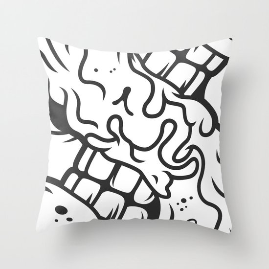 S is for Smile Throw Pillow