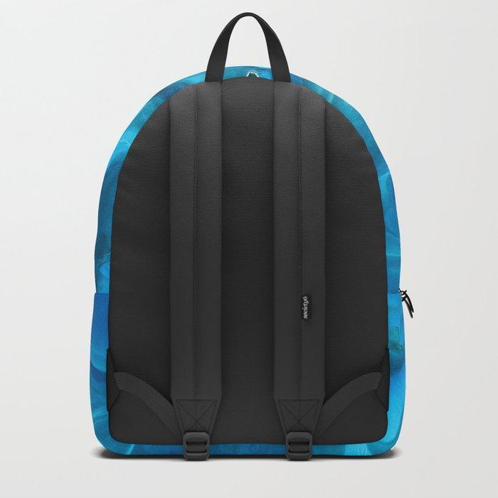 Dramatic Blue Ocean Waves Backpack