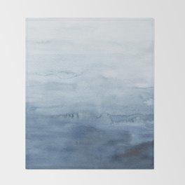 Indigo Abstract Painting | No. 5 Throw Blanket