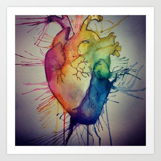 Rainbow Heart Art Print
