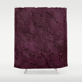 Royal Maroon Silk Moire Pattern Shower Curtain