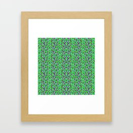 PURPLE AND GREEN MINI RECTANGLES Framed Art Print