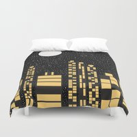 starry night Duvet Covers featuring Starry Night by Alisa Galitsyna