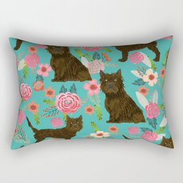 cairn Terrier florals dog pattern dog breed pet friendly gifts for dog person Rectangular Pillow