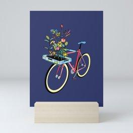 Bike and Flowers Mini Art Print
